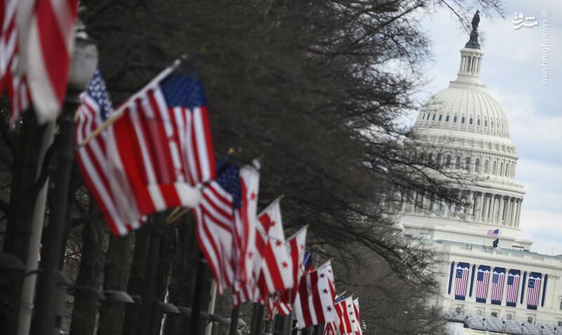 عکس/ آمریکا در آستانه مراسم تحلیف