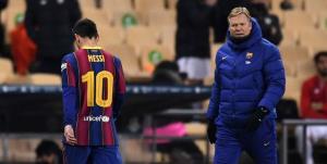 مسی از 2 بازی بارسلونا محروم شد