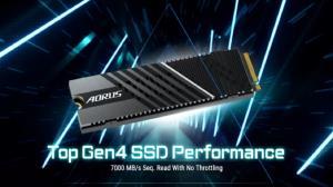 گیگابایت از حافظه جدید SSD با سرعت ۷ گیگابیت بر ثانیه رونمایی کرد