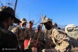 عکس/ امداد زمینی و هوایی در پارک ملی گلستان
