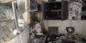 تخریب منزل مسکونی بر اثر انفجار گاز در نقده