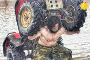تمرینات عجیب مرد آهنین افغانستان!