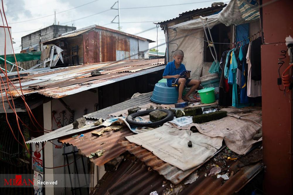 عکس/ مشکلات تحصیل آنلاین در فیلیپین