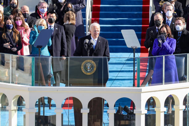 عکس/اولین سخنرانی بایدن به عنوان رئیس جمهور آمریکا