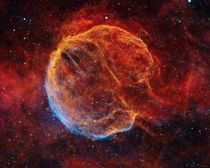 سحابی مِدولا: بازمانده یک انفجار ابرنواختری