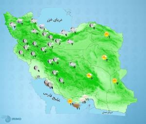 پیشبینی وضعیت آب و هوا؛ برف و سرما مهمان ایرانیها میشود