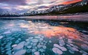 منظره ای زیبا به هنگام یخ زدن گاز متان
