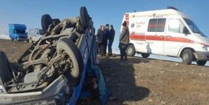 واژگونی مرگبار نیسان در محور بوئین زهرا