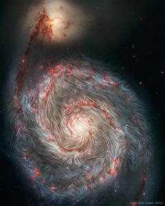 عکس روز ناسا/ میدان مغناطیسی کهکشان «گرداب»