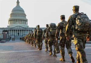 چندین نظامی گارد ملی از شرکت در مراسم تحلیف حذف شدند