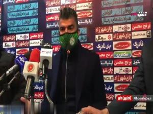 ویدیوی اعتراض رحمان رضایی در نشست خبری