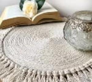 آموزش رومیزی زیبا با نخ مکرومه کتان