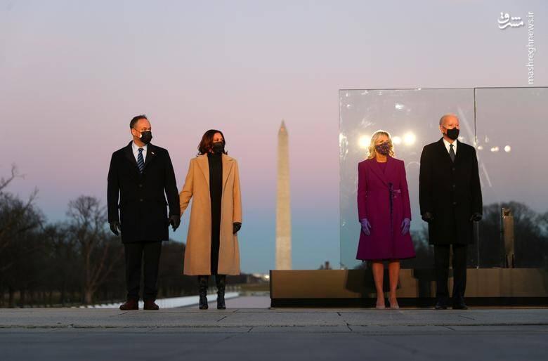 ادای احترام بایدن به 400 هزار قربانی کرونا در آمریکا