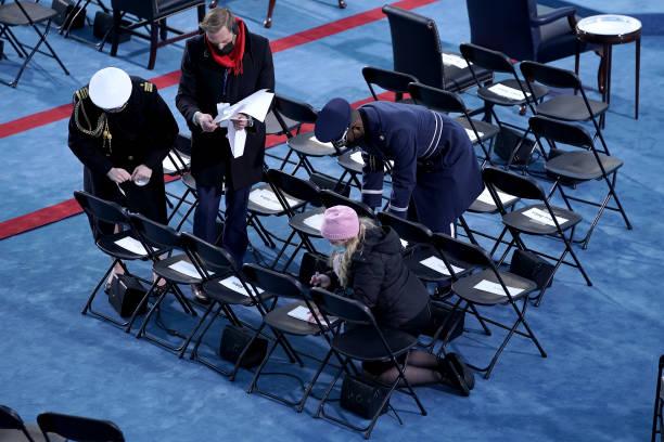 عکس/ آمادگیهای نهایی قبل از مراسم تحلیف بایدن