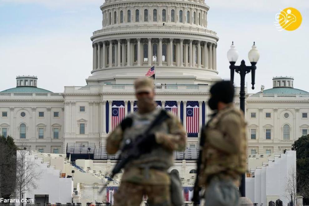 عکس/ محاصره نظامی واشنگتن در آستانه تحلیف بایدن