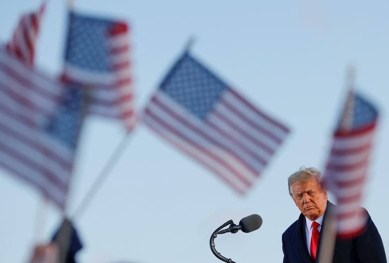 عکس/ پایان دوران ترامپ