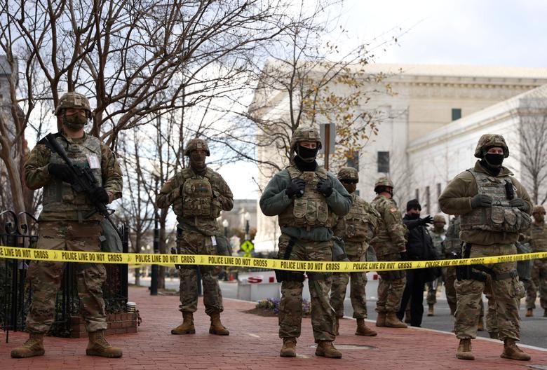 عکس/ تدابیر شدید امنیتی در مراسم تحلیف بایدن
