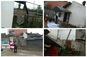 باد شدید سقف منازل مسکونی بابلسر را با خود برد