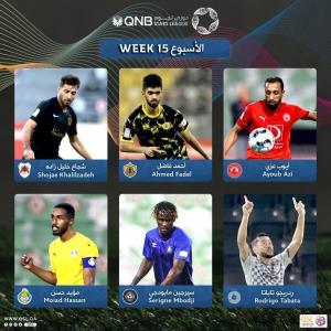 شجاع خلیل زاده، کاندید بهترین بازیکن هفته قطر