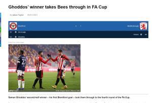 تمجید رسانههای انگلیس از قدوس بعد از گل 3 امتیازی برای برنتفورد