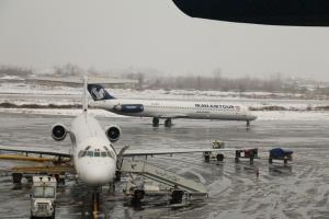 پذیرش پروازها در فرودگاه گیلان به حالت عادی بازگشت