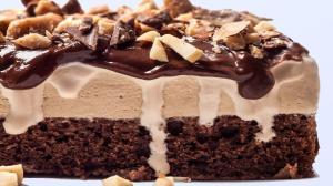 روشی ساده برای درست کردن  کیک بستنی شکلاتی