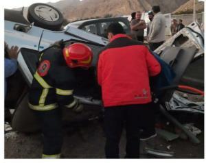 تصادف رانندگی در جهرم، جان ۲ نفر را گرفت