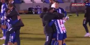 خوشحالی بازیکنان آلکویانو پس از حذف رئالمادرید