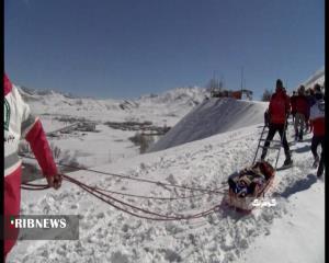 مانور امداد و نجات سقوط بهمن در کوهرنگ