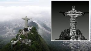 ویدئوی سه بعدی جالب از داخل تندیس معروف مسیح