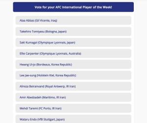 طارمی، بیرانوند و عابدزاده کاندید بهترین لژیونر آسیا