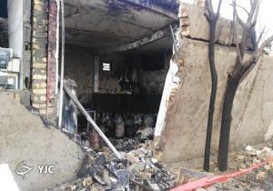 انفجار در مرکز غیرمجاز نگهداری ال پی جی