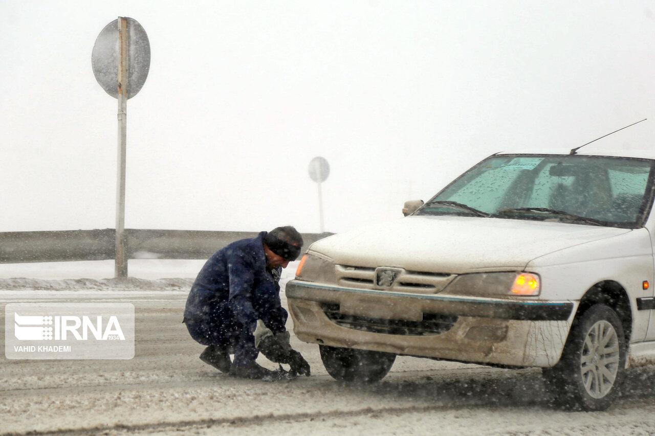 دشواری تردد در جاده برفی بجنورد-آشخانه