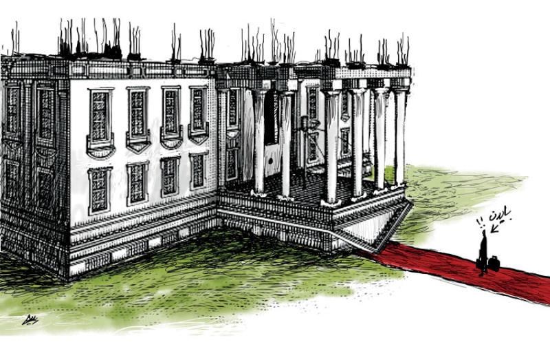 کاریکاتور/ کاخ سفید زیر و رو، میراث ترامپ