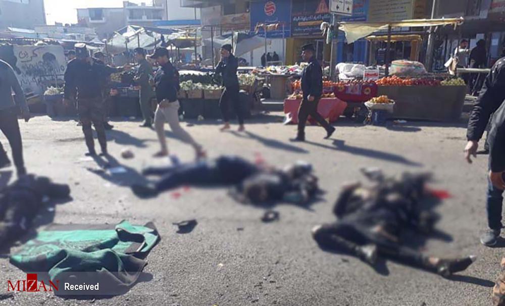 تصاویری دلخراش از انفجار انتحاری در مرکز بغداد