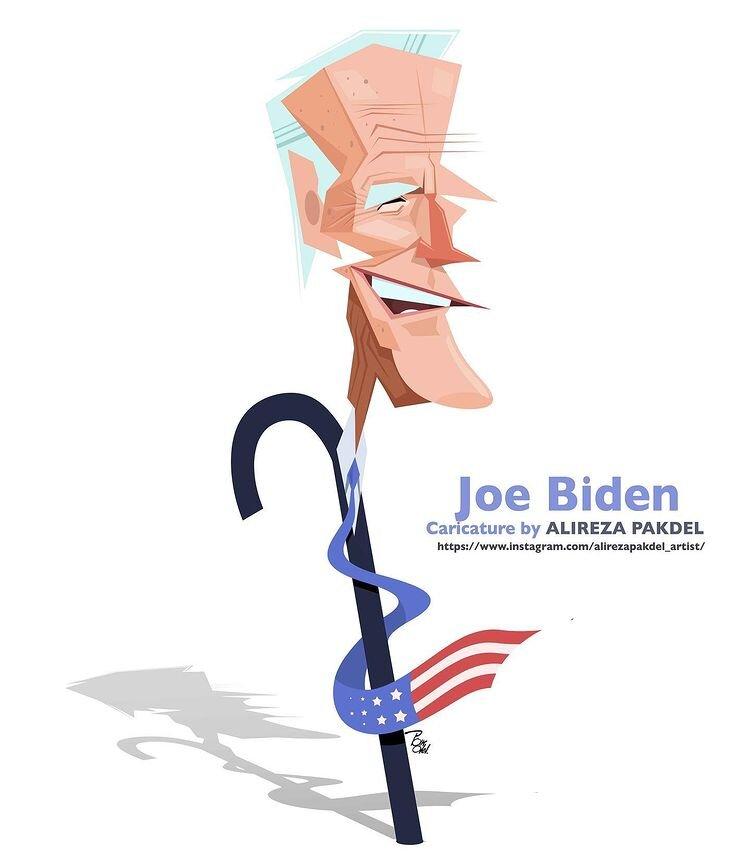 کاریکاتور/ پیرمردی که رئیس جمهور شد!