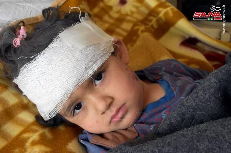 عکس/ مجروحان حمله هوایی رژیم صهیونیستی به حماه