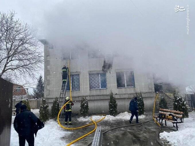آتشسوزی خانه سالمندان در شرق اوکراین