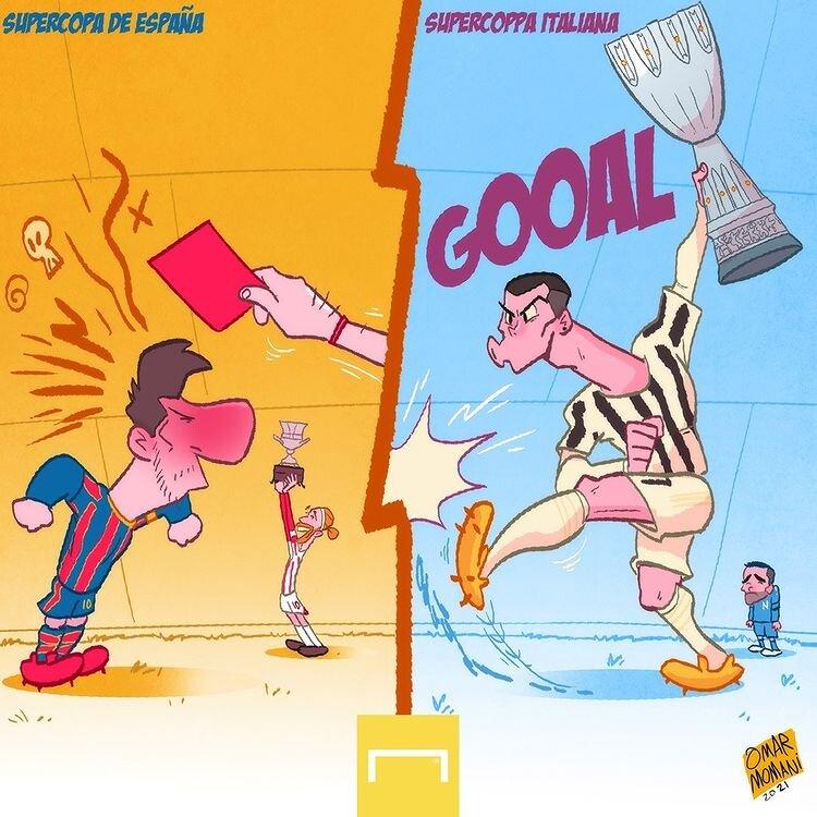 کاریکاتور/ جدیدترین تفاوت مسی و رونالدو رو ببینید!