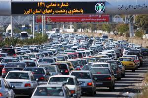 ترافیک سنگین در آزادراه کرج ـ قزوین