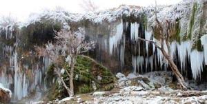 آذربایجان قندیل بست؛ سراب ۲۷ درجه زیر صفر رفت