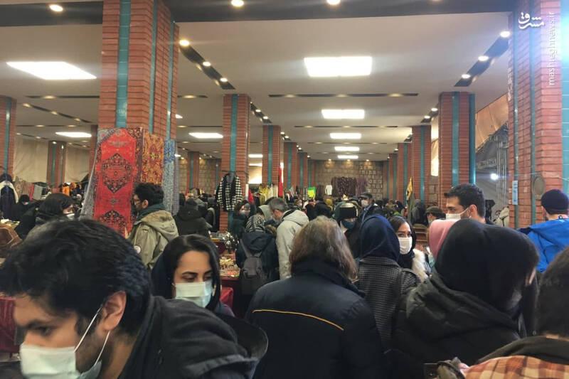 ازدحام تهرانی ها در محل جدید جمعه بازار پروانه