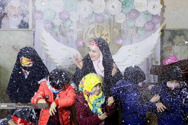 مراسم جشن تولد فرزندان شهدای مدافع حرم