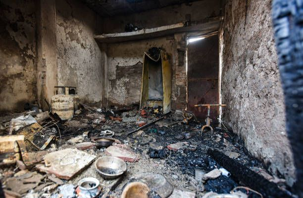 آتش سوزی سنگین در محله فقیرنشین هند