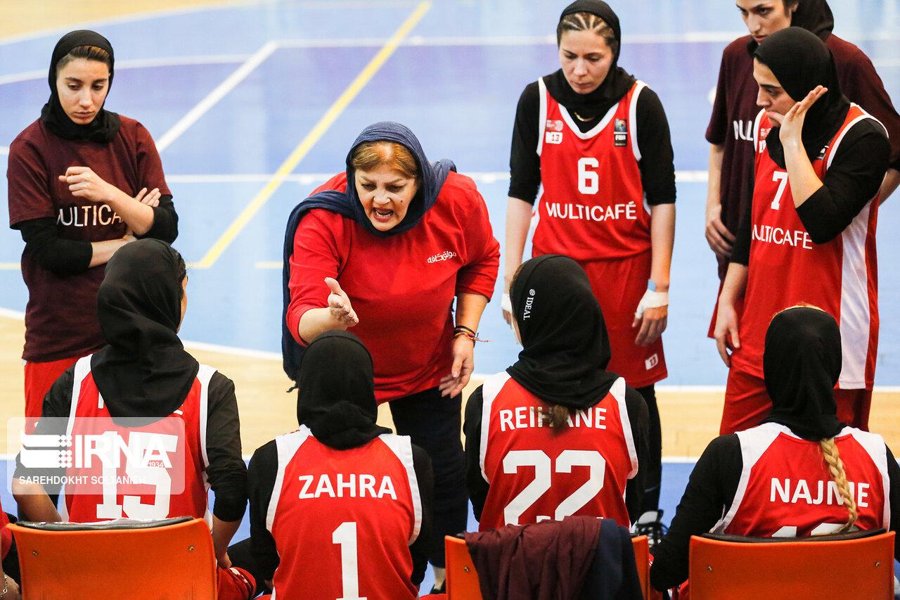 دیدار بسکتبال بانوان شهر گرگان و مولتی کافه مشهد