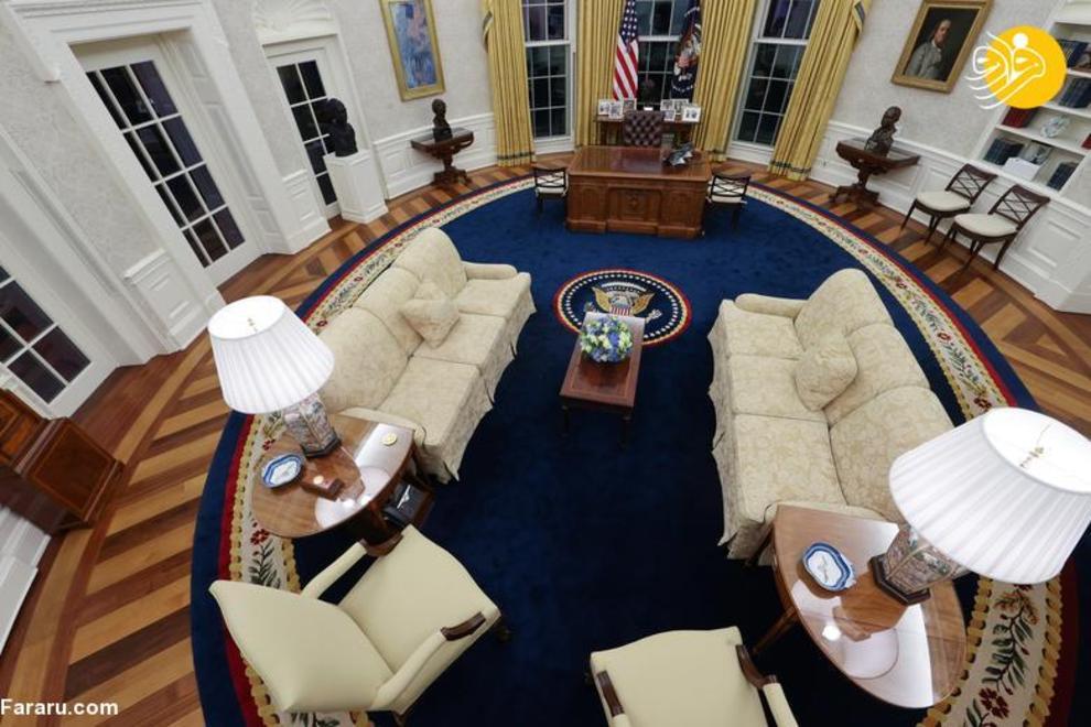تصاویر دفتر کار بیضی بایدن در کاخ سفید