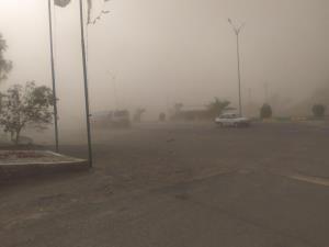 طوفان شن در جنوب کرمان ادامه دارد