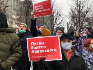 تظاهرات طرفداران ناوالنی در چندین شهر روسیه