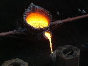 ذوب شدن فلز درون میدان مغناطیسی