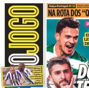 طارمی روی جلد روزنامه پرتغالی